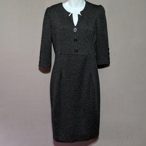 Women Retro 3/4 Sleeve Pencil Dress